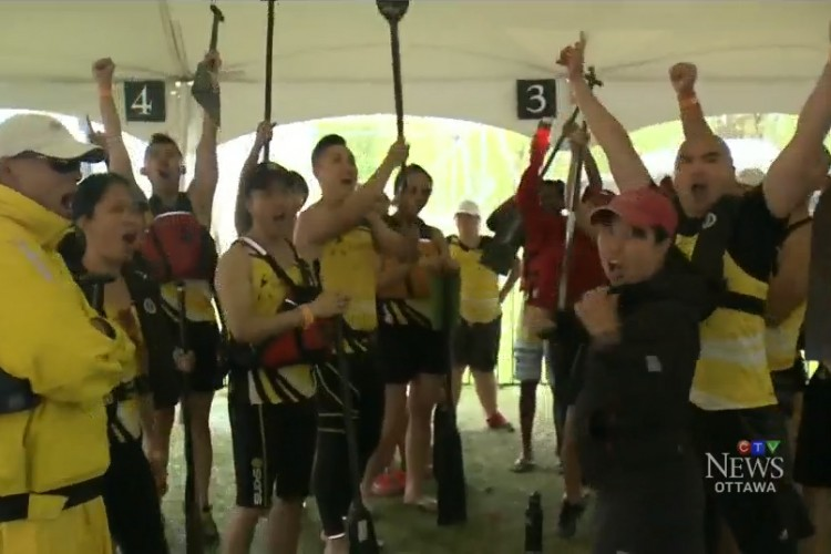 Whiplash Dragon Boat Ottawa CTV